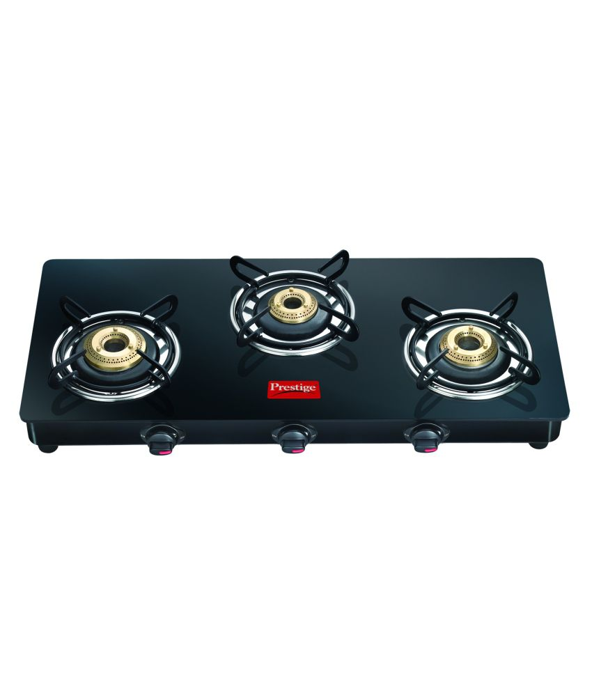 Prestige GTM03L 3 Burner Glass Manual Gas Stove