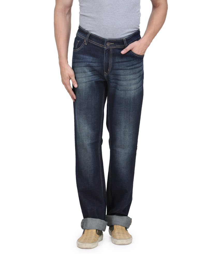 Vintage Blue Jeanswear Blue Cotton Men Jeans
