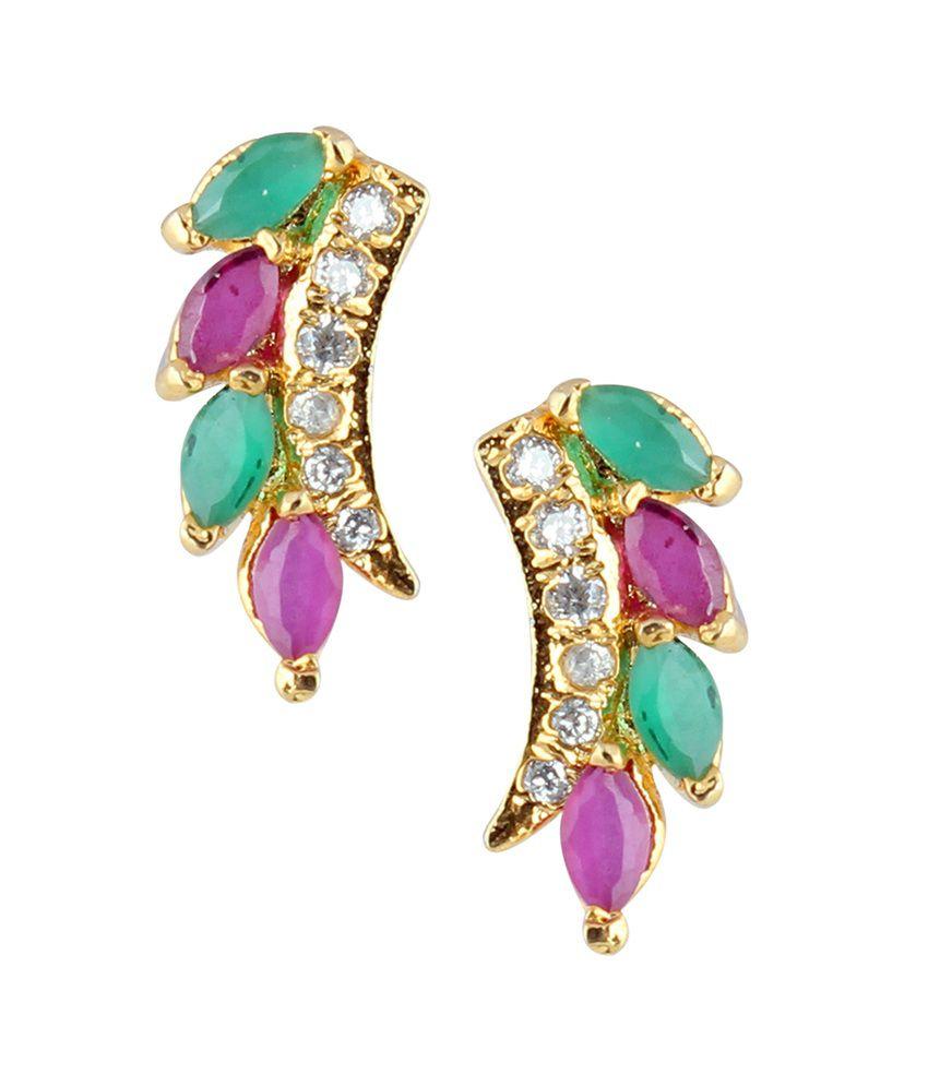 Archi Collection Multicolour Colour Spark Alloy Stud Earrings