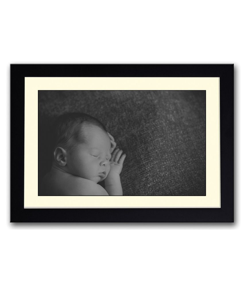 Artifa Matte Baby Sleeping Painting With Wood Frame