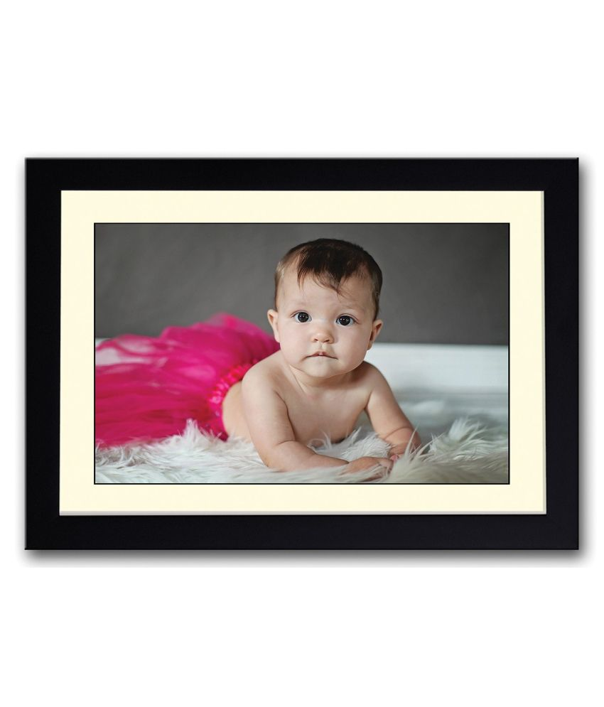 Artifa Matte Baby With Pink Painting With Metal Frame