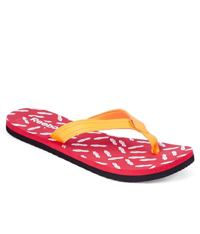 Reebok Pink Flip Flops
