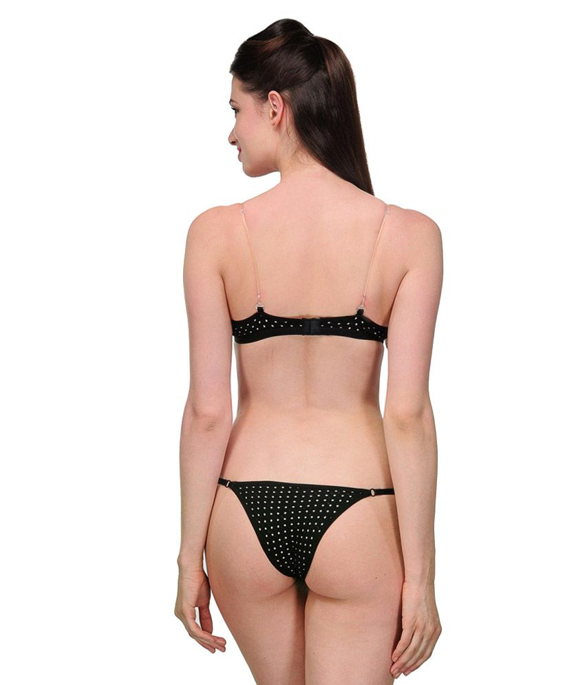 7c784a0f3adb Buy URBAANO Black Bra   Panty Sets Online at Best Prices in India ...