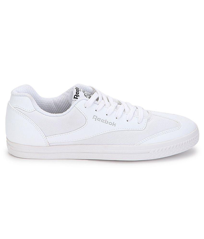 reebok white tennis shoes