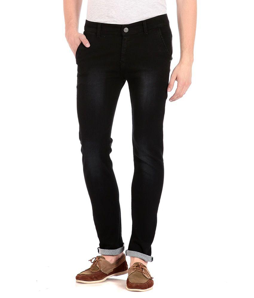 Flyjohn Black Slim Fit Jeans