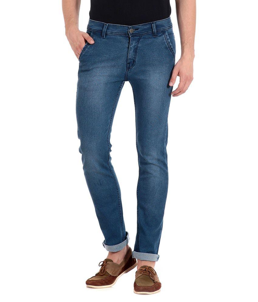 Flyjohn Blue Slim Fit Jeans