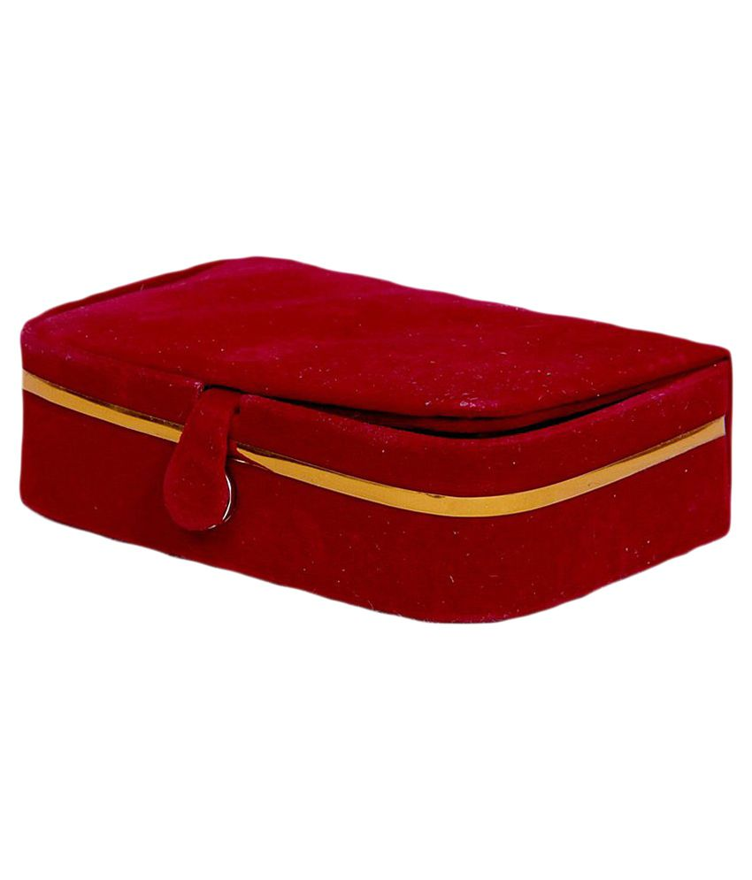 Kuber Industries Maroon Earring Box