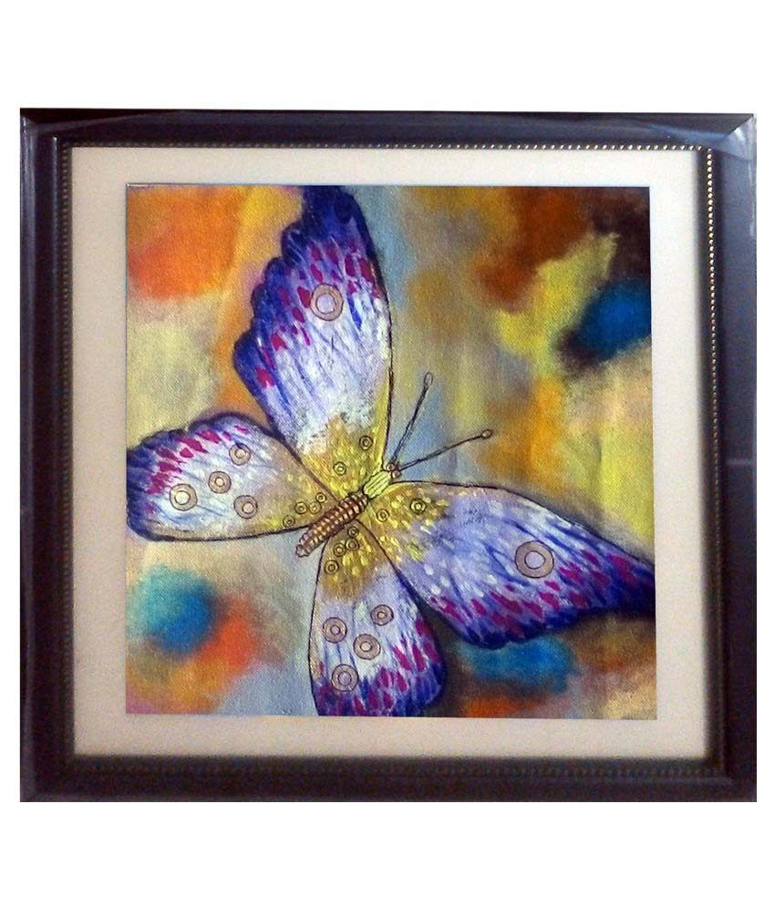 Nazarethlion Butterfly Acrylic Canvas Painting