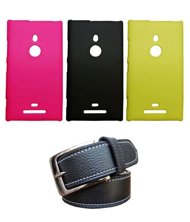 Winsome Deal Black Belt with 3 Back Cover Cases for Nokia Lumia 958
