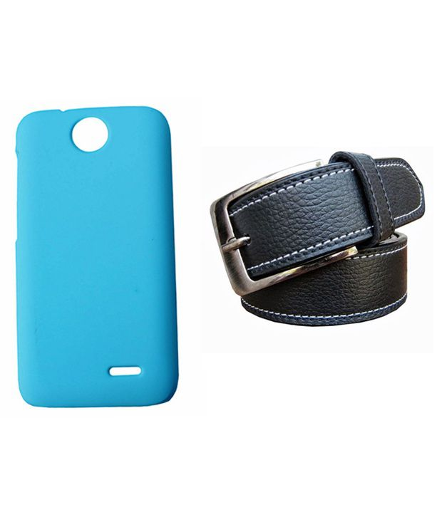 Winsome Deal Black Belt with Back Cover Case for HTC Desire 310