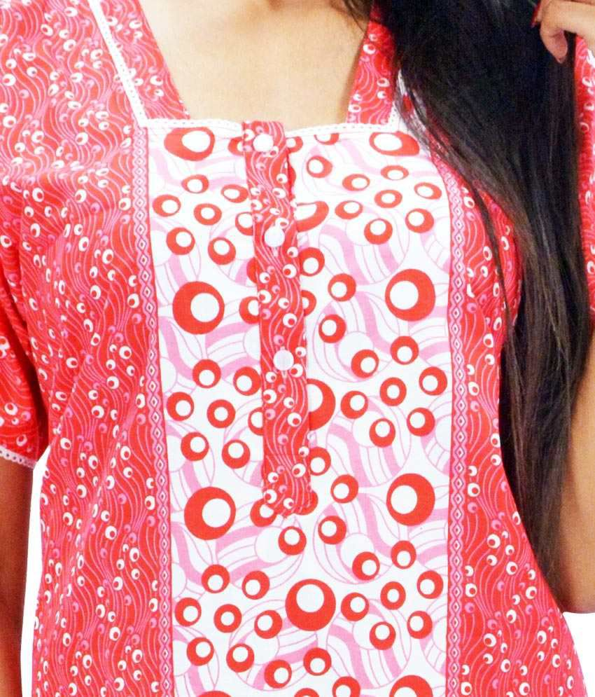 ... Anand India Multi Color Cotton Nighty   Night Gowns Pack ... 4276a4079