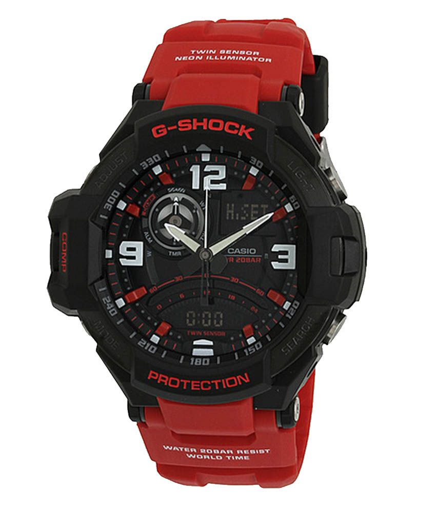 Casio g shock ga 1000 4bdr g542 gravity defier men 39 s watch buy casio g shock ga 1000 4bdr for Watches g shock