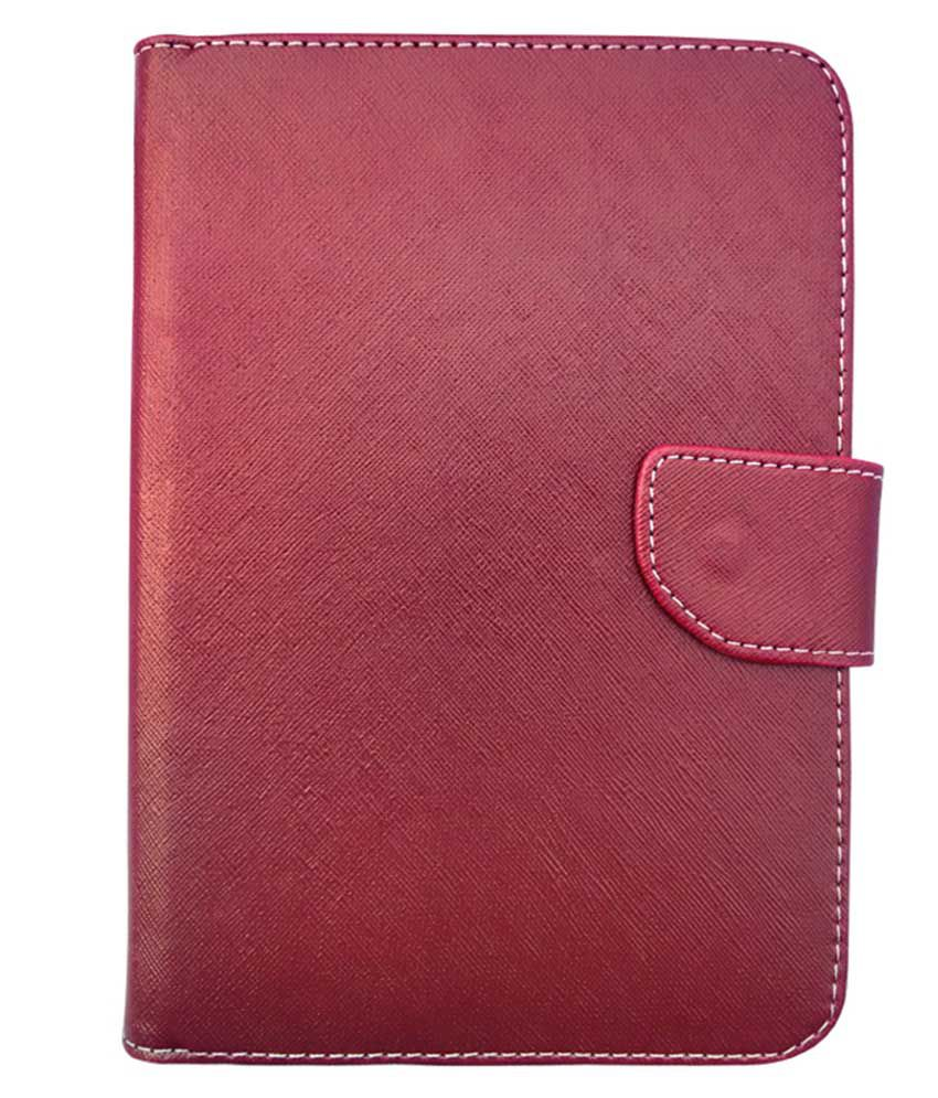 Fastway Flip Cover For Micromax Funbook Infinity P275 - Red