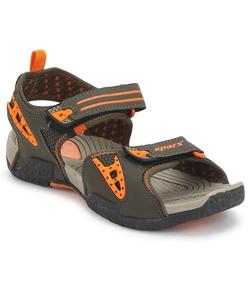 Sparx Green Floater Sandals exclusive online JlN4lL19q