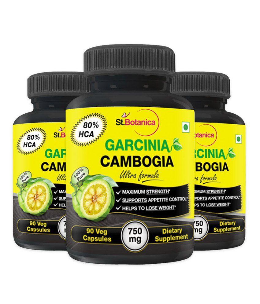 Stbotanica Garcinia Cambogia Ultra Formula 80 Percent Hca 100 Pure 750mg Extract 90 Veg Capsules Buy 2 Get Free