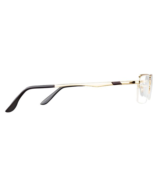 ray ban golden frame  Ray-Ban Golden Frame Half Rim Eyeglasses - Buy Ray-Ban Golden ...