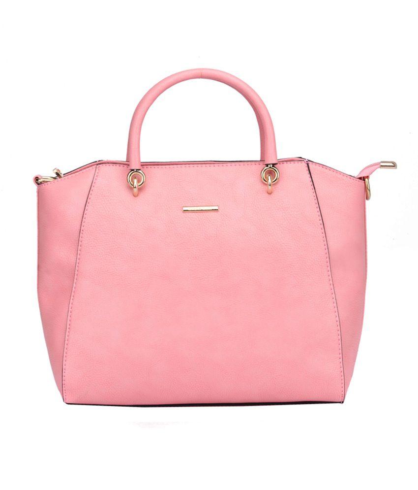 Diana Korr Pink Faux Leather Shoulder Bag