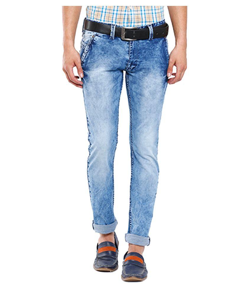 Vintage Blue Blended Cotton Jeans