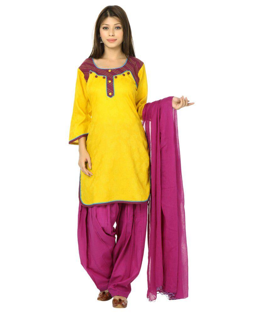 Aavaya Fashion Cotton Patiala Suit