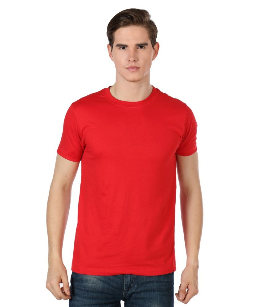 Badassness Red Cotton Round Neck T shirt