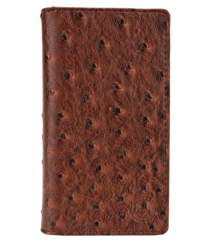 Jo Jo Croc Series Flip Case For IBall Andi5T Cobalt2 - Brown
