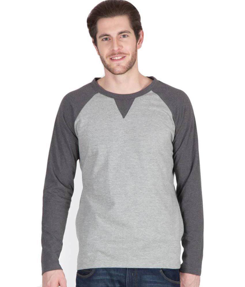 9c087a122 Hypernation Light and Dark Grey Color Round Neck Cotton Full Sleeves  Baseball T-shirts For Men - Buy Hypernation Light and Dark Grey Color Round  Neck Cotton ...