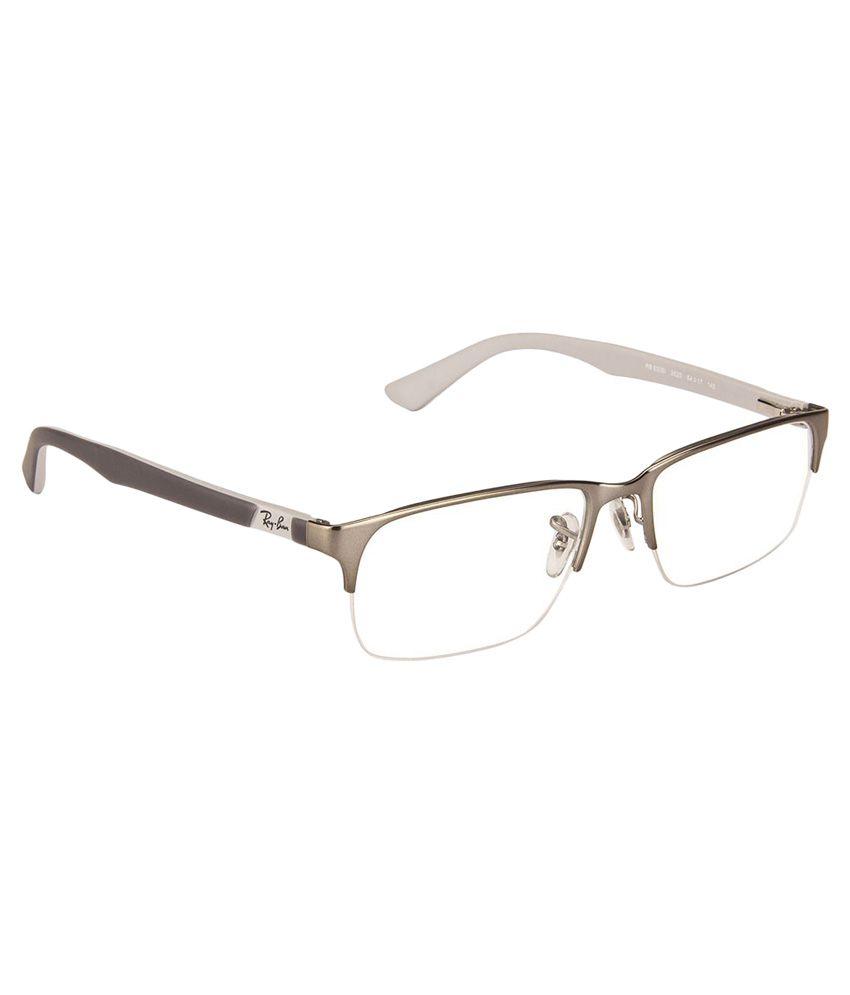 Ray-Ban Silver Frame Metal Half Rim Frame Eyeglasses - Buy Ray-Ban ...