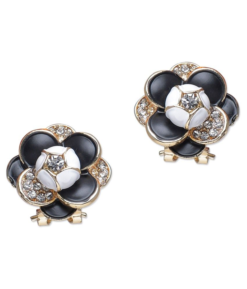 BGS Black Alloy Stud Earrings