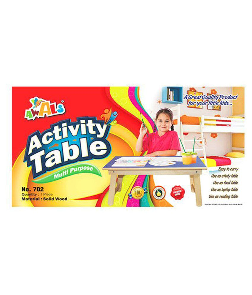 scrazy multipupose wooden activity table for kids  buy scrazy  -  scrazy multipupose wooden activity table for kids