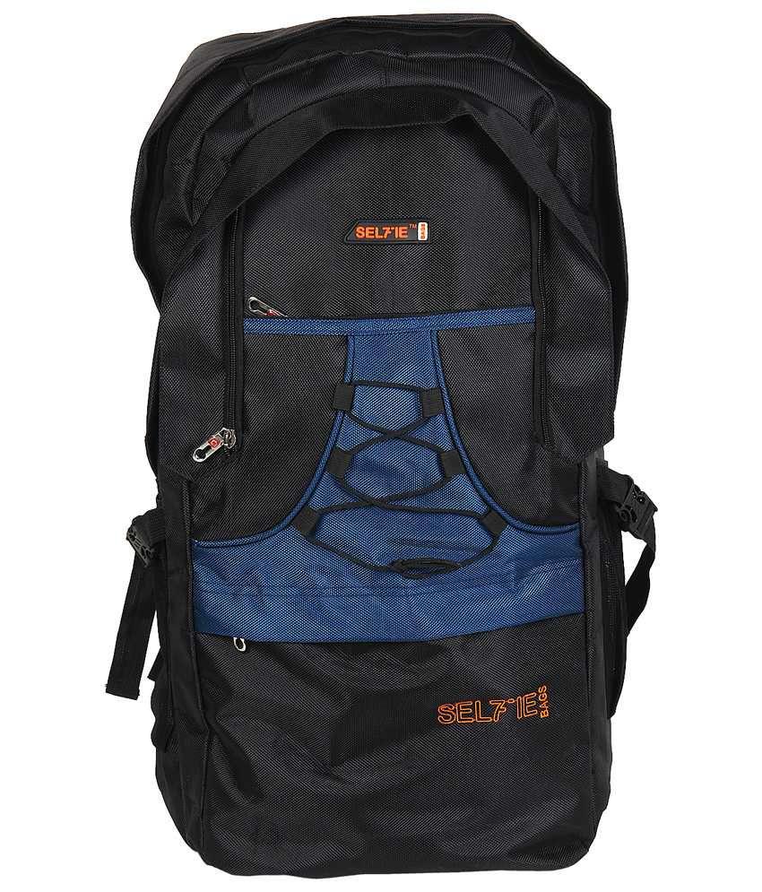 SelfieSeven Polyester Hike Bag-Blue & Black