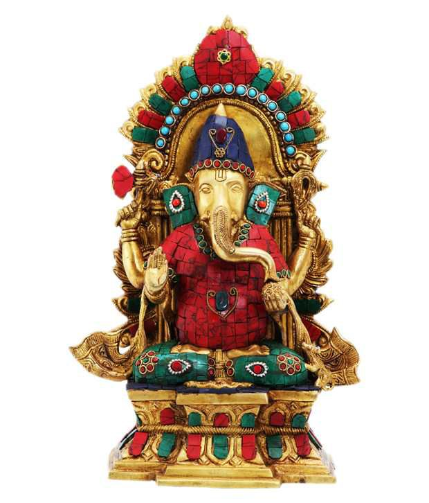 ark creation hindu god ganesha sitting on singhasan buy ark rh snapdeal com
