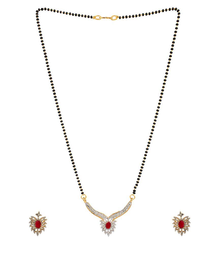 Bling N Beads Golden Alloy Mangalsutra Set