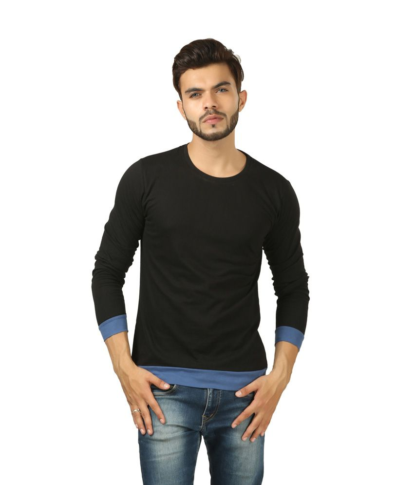 Brownbird Black Cotton T-shirt