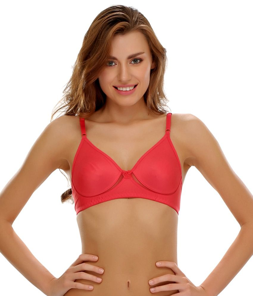 ec112925d2 Buy Clovia Cotton Rich Non Padded Wirefree T-Shirt Bra In Reddish Pink  Online at Best Prices in India - Snapdeal