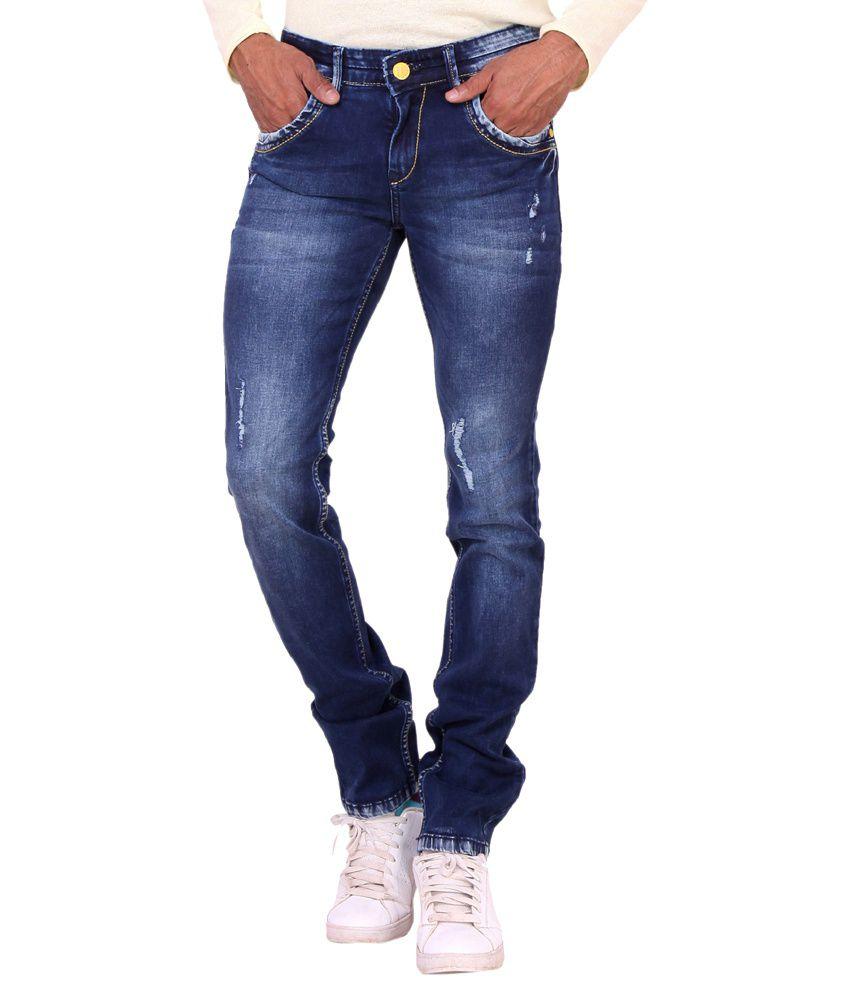 kavis blue slim fit jeans buy kavis blue slim fit jeans. Black Bedroom Furniture Sets. Home Design Ideas