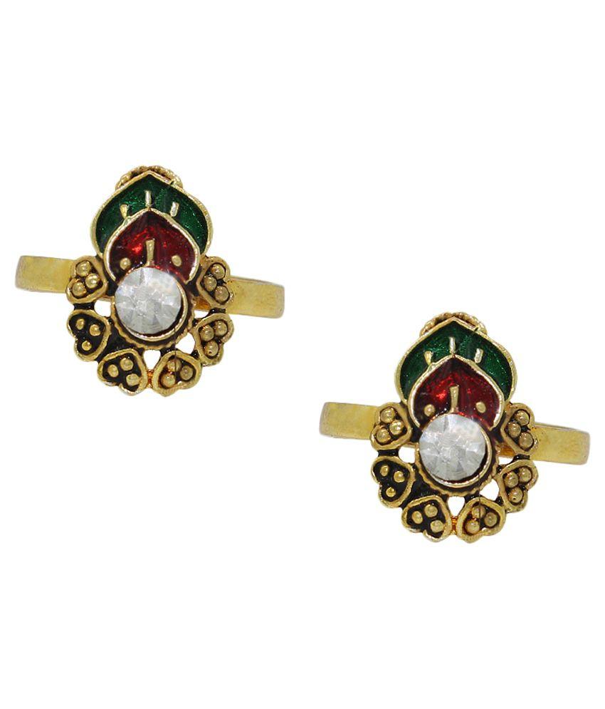 Pehchan Green Bridal Toe Ring
