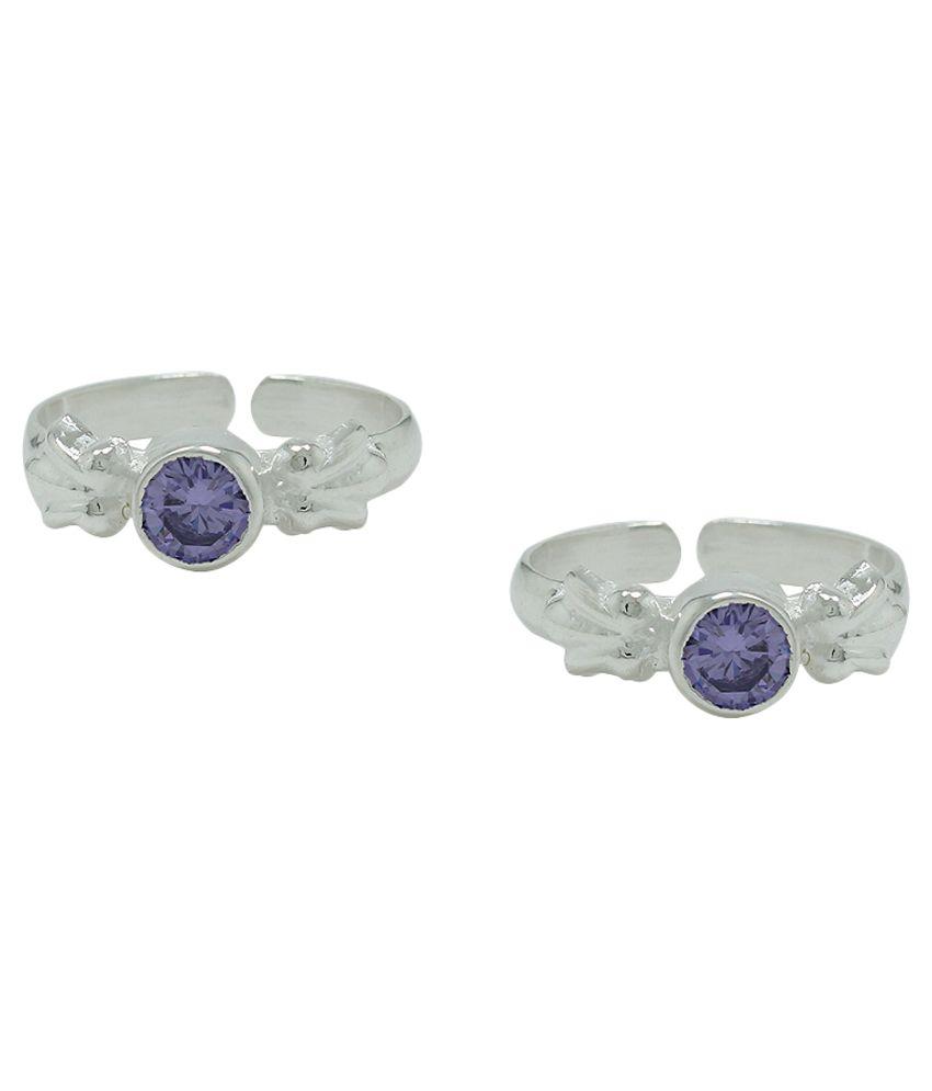Pehchan Purple Colour Spark Toe Ring