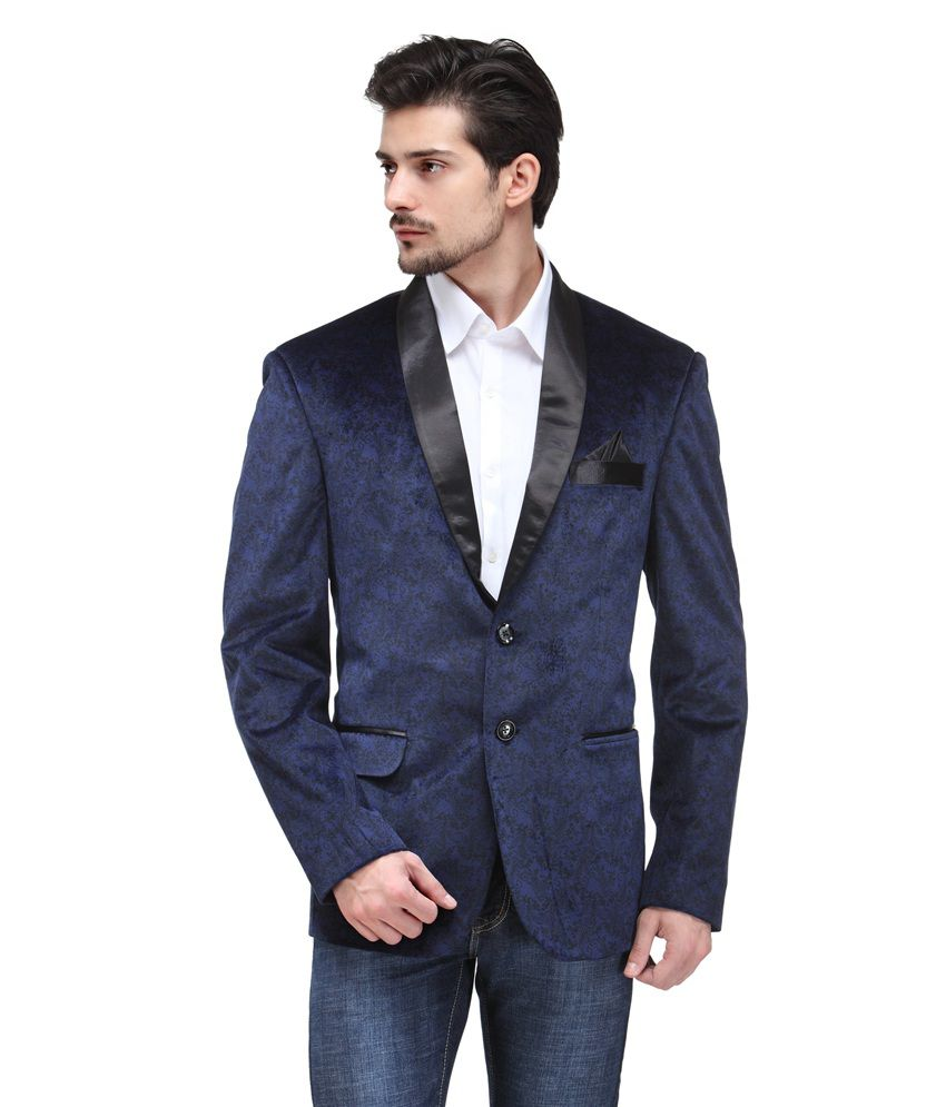 Canary London Navy Cotton Blend Blazers