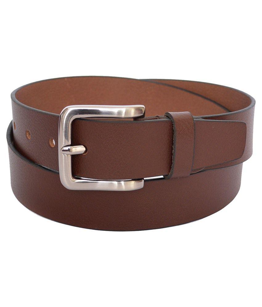 Genuine Leather Brown Formal Belt