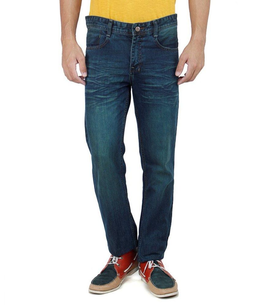 Uber Urban Green 100 Percent Cotton Men Jeans