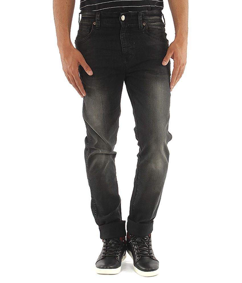 Wrangler Mens Black Faded Lycra Slim Fit Jeans - Buy Wrangler Mens ...