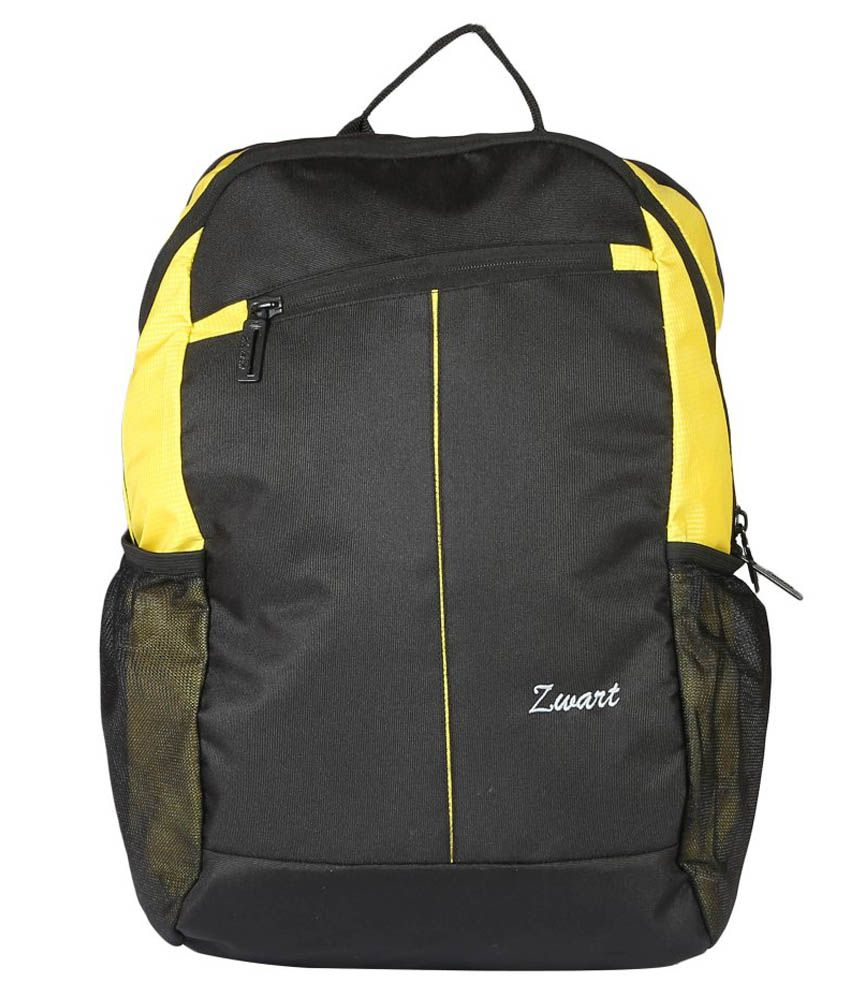 Zwart Laptop Compatibility Bag - Yellow
