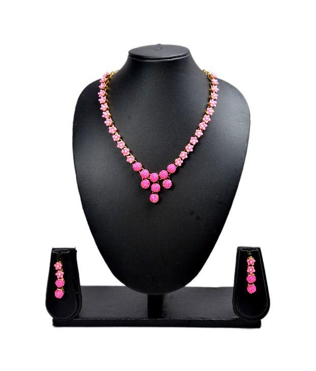 Akshada Creation Alloy Antique Traditional Necklace Set