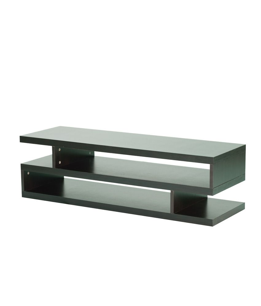 Espresso Coffee Table TV Unit In Brown