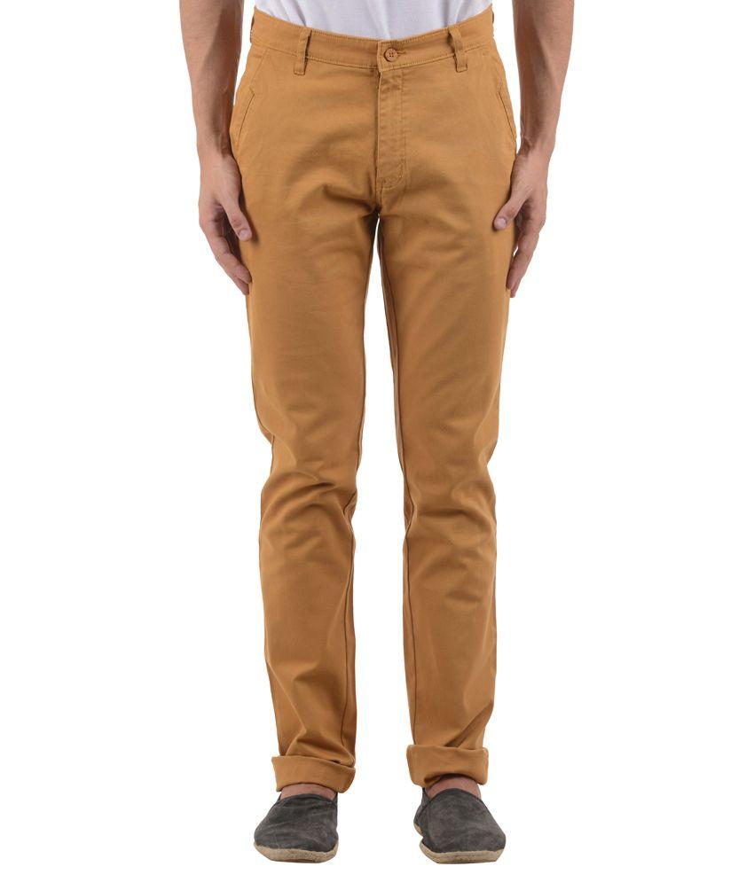 COBB Khaki Slim Fit Casual Trouser