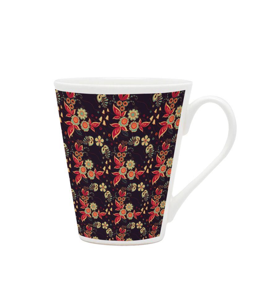 HomeSoGood Multicolour Glass Mug Set Of 6