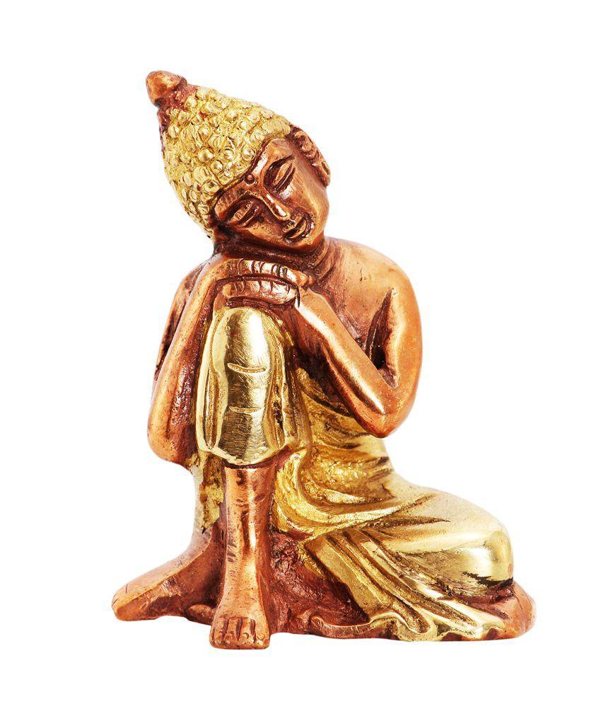 Ark Creation Brown Brass Buddha Resting