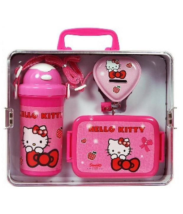 a007df905af Lehar Toys Hello Kitty Lunch Box, Water Bottle and Coin Box  Buy Online at Best  Price in India - Snapdeal