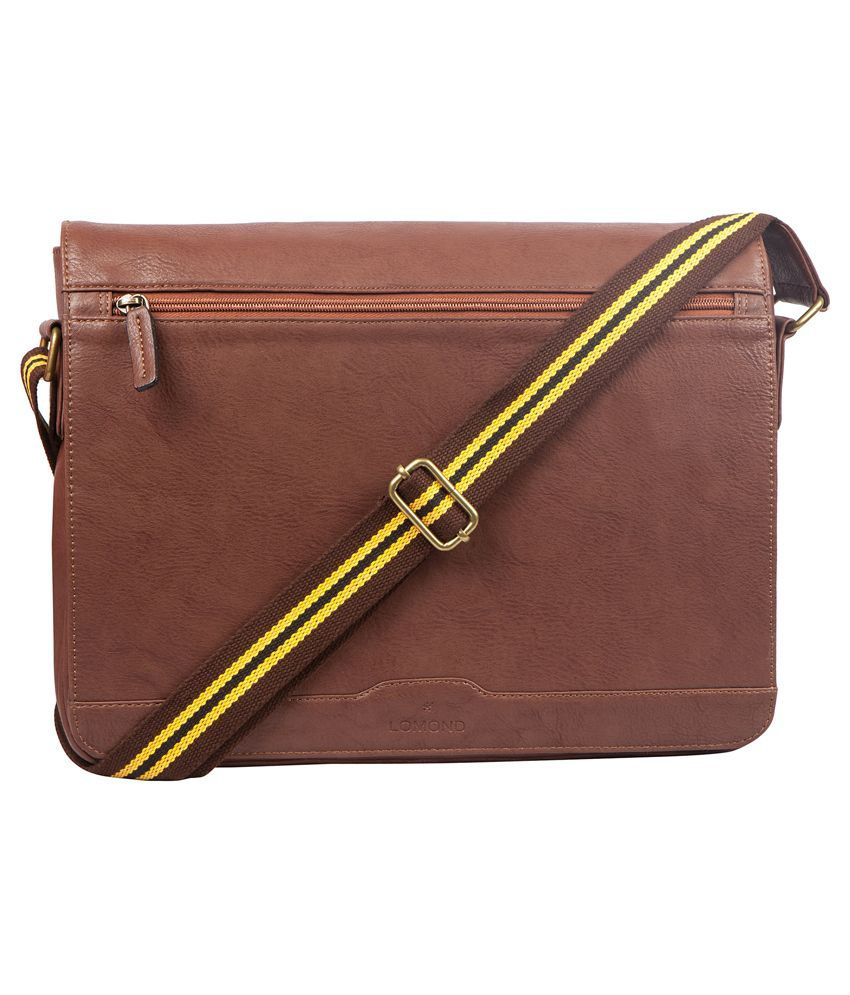 Lomond Brown Laptop Bag for Men