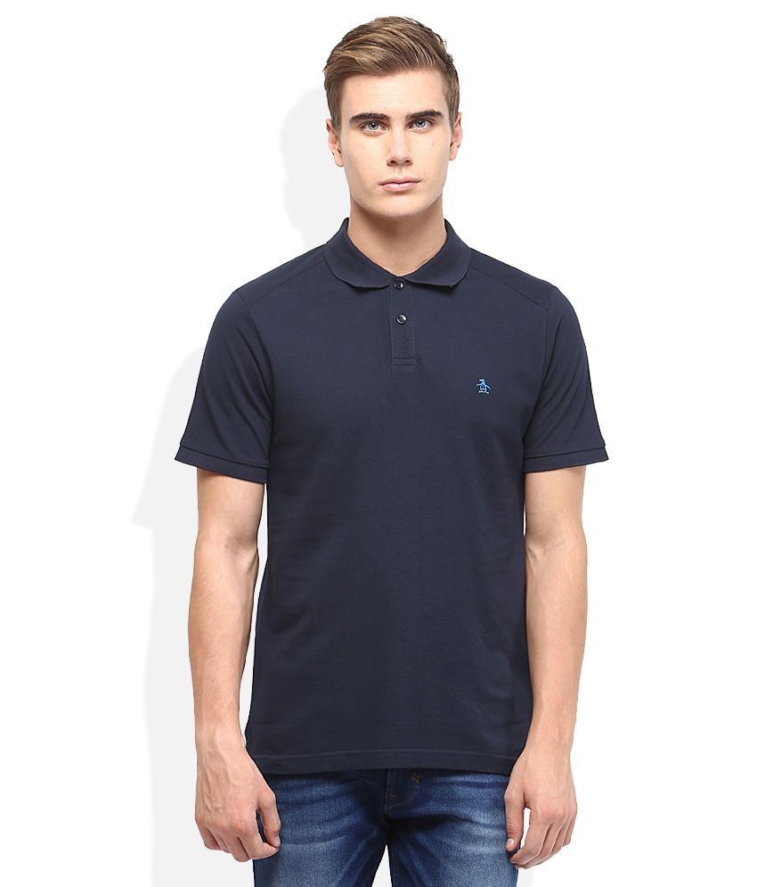 800535fce Original Penguin Navy Blue Solid Polo T Shirt - Buy Original Penguin Navy  Blue Solid Polo T Shirt Online at Low Price - Snapdeal.com